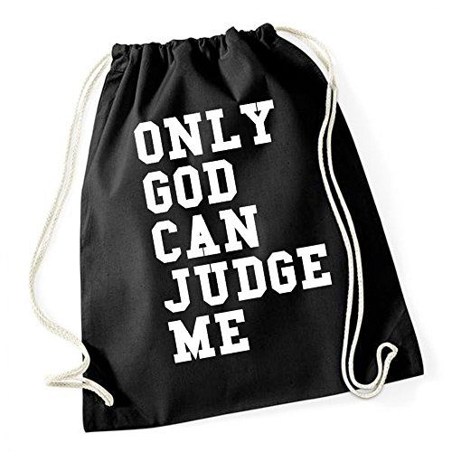 Certified Freak Only God Can Judge Me Gymsack Black