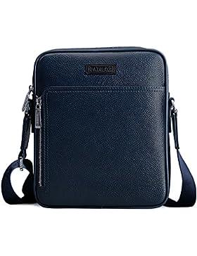 Padieoe Mens echtes Leder Business Casual Umhängetasche Tasche Luxuxmarken Umhängetasche