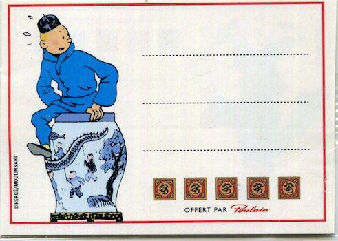 Tintin - Poulain - Le Lotus Bleu - petites étique...