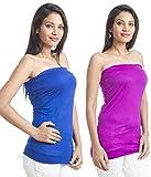 Teemoods Womens Viscose Long Sleeve Top (Tm-C-1465Blu&Pur-L _Blue N Purple _Large)