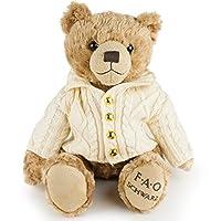 "FAO Schwarz Original Classic Stuffed Teddy Bear Plush Animal, Super Soft, Snuggle Pal with Sweater, 12"", Brown"