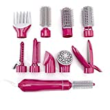 Straight Hair Comb Multifunktionshaartrockner Styling Werkzeuge Set Professionelle Elektrische Föhn Föhn Styler Pinsel Kamm Frau Haarglätter,Pink