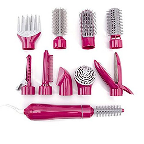 Pink Styler (Straight Hair Comb Multifunktionshaartrockner Styling Werkzeuge Set Professionelle Elektrische Föhn Föhn Styler Pinsel Kamm Frau Haarglätter,Pink)