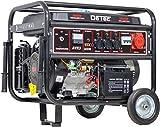 Benzin Stromerzeuger Notstrom Aggregat Stromgenerator 5,5 KW mit Starkstrom 230V + 400V und E-Start (Elektrostarter)
