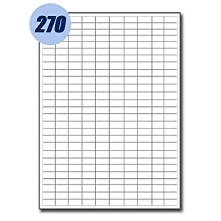 200 Sheets of Address Labels 270 per sheet 17.8mm x 10mm