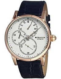 heritor automatic HERHR1103 - Reloj para hombres, correa de cuero color negro