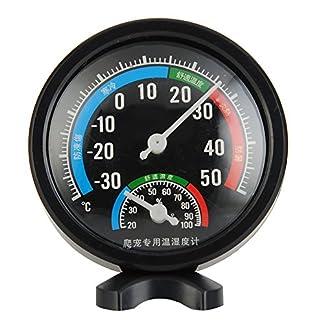 ETbotu Round Reptile Aquarium Tank Thermometer Hygrometer Incubator Temp Humidity Measure For Fish Tank Aquarium Marine… 2
