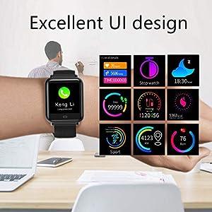 CanMixs Smart Watch CM07 Impermeable IP67 Actividad Fitness Tracker Reloj con monitor de ritmo cardíaco Podómetro Sleep Monitor Cronómetro SMS Notificación de llamadas Cámara remota Música iOS Android