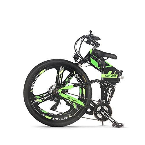 eBike_RICHBIT RLH-860 bicicleta eléctrica bicicleta de montaña plegable MTB e bicicleta 36V * 250W 12.8Ah litio - batería de hierro...