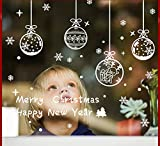 HOMEE Christmas Snowflake Card Window Stickers Glass Stickers New Year Decorations Pvc Can Be Removed Window Paste Christmas Eve Snowflakes,Figure