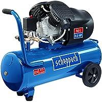 Scheppach 5906102901  Kompressor HC53DC | + Tank 50l, Druckminderer, Kupplungen, Manometer / Doppelzylinder / Fahrvorrichtung / Leistungsstark (3,0 PS Motor / Abgabe 272 l/min / 41 kg / 230 V/ 10 Bar)
