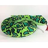 Schlange aus Plüsch L 254 cm, grün Zugluftdichtung