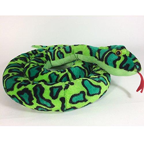 Annastore Schlange aus Plüsch L 254 cm, grün Zugluftdichtung