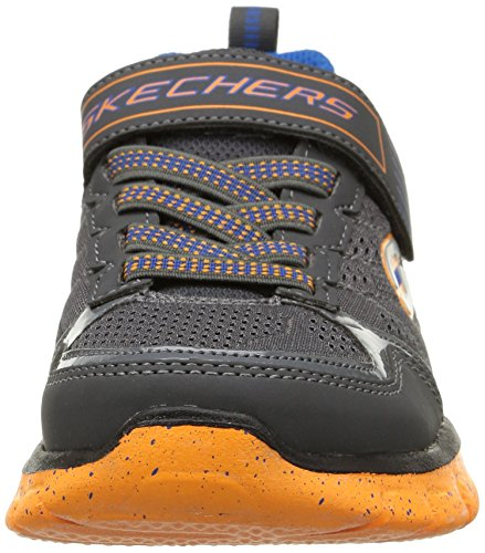 Skechers Synergy Power Flex, Low-Top Sneaker Ragazzo Grigio (Grigio (CCOR))