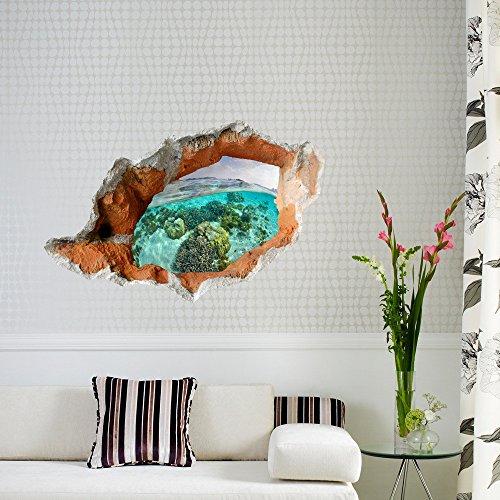 Wandtattoos WandbilderWandsticker 3D (Schnee im Wald) Wandsticker Tapeten Schlafzimmer Wohnzimmer TV Sofa Hintergrund HD selbstklebend Aufkleber Kein Kleber übrig (59 * 90) - Rezepte Schnee