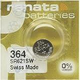 Pile Montre Renata MP-E 364 SR621SW, 60% Plus puissante, 1 Pile