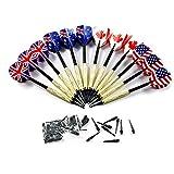 E-db Freccette, Set di 12 Freccette Professionali Punta Plastica, Freccette Soft per Bersaglio Elettronico, 12 Dart Shafts