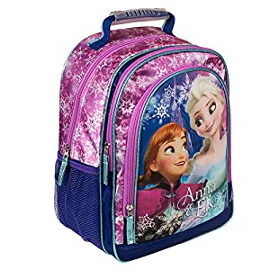 51V7uV54sAL. SS300  - Mochila Frozen Disney Magic Snow doble bolsillo 38cm