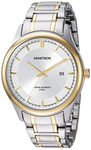 Armitron Men's 20/5230SVTT Date Calendar Dial Two-Tone Bracelet Watch