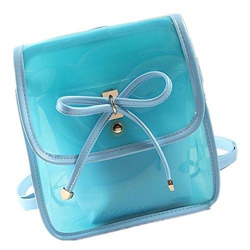 Lawevan Es Taschen Kollektion Damen Damen Strandtaschen PVC-Taschen Two In One Rucksäcke Shoulderbags Blau