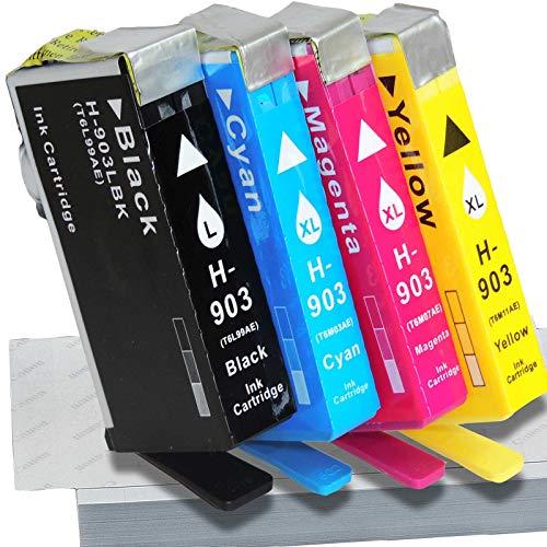 4er Set HP 903XL Schwarz kompatibel HP903XL Tintenpatronen Set Value Pack Multipack -