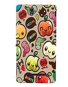 Citydreamz Happy Halloween\Cute Cartoon Hard Polycarbonate Designer Back Case Cover For Sony Xperia C3