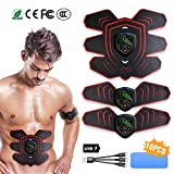 HONITURE Muscle Stimulator EMS Abs trainer Portable Abdominal Muscle Toner Fitness Training Gear with LCD Display for Men/Women