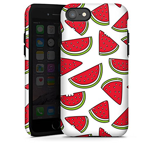 Apple iPhone X Silikon Hülle Case Schutzhülle Melone Sommer Essen Tough Case glänzend