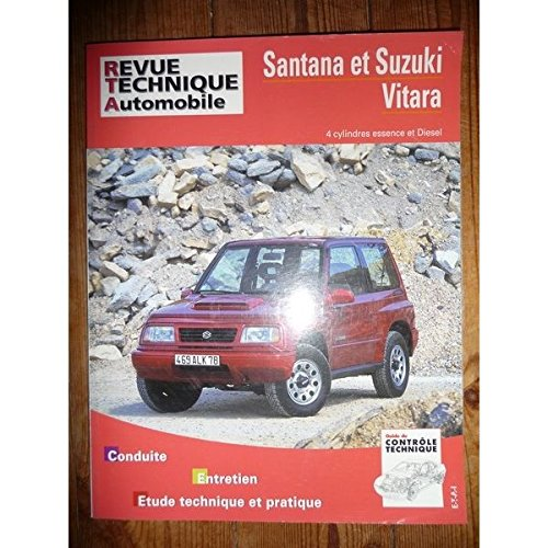 RRTA0553.3 – REVUE TECHNIQUE AUTOMOBILE SUZUKI et SANTANA VITARA 4 Cylindres Essence et Diesel