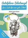 ART + emotions Autofahrer Schutzengel fürs Auto für eine Gute Fahrt - SCHLÜSSELANHÄNGER - Metall - Geschenkidee für deinen Lieblingsmenschen - Glücksbringer auf All deinen Wegen