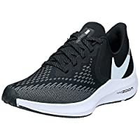 Nike WMNS NIKE ZOOM WINFLO 6, Women's Women Road Running Shoes, Black (Black/White-Dark Grey-Mtlc Platinum 003), 4.5 UK (38 EU)