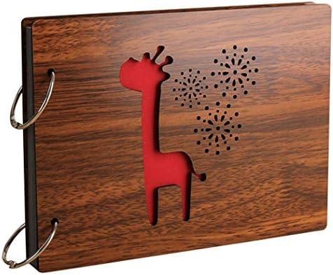Justdolife Album Photo Girafe Pissenlit Modèle Bricolage en Bois Album Photo Livre de Mémoire B07K5883D6 | Sale Online