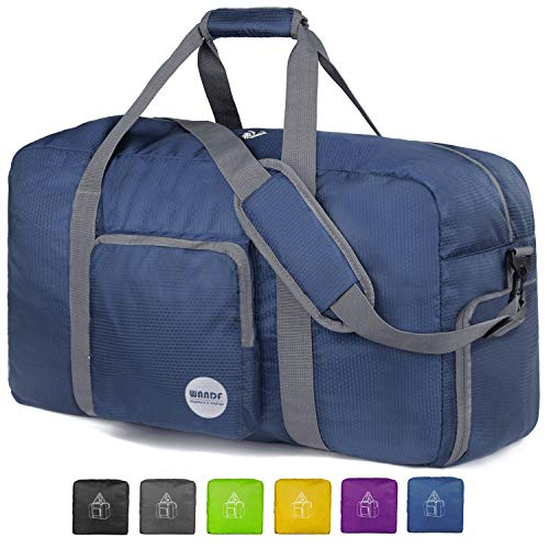 WANDF Foldable Travel Bag with Shoe Compartment Lightweight