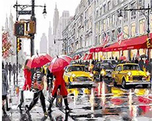WYTCY Herbst In New York Malen Nach Zahlen DIY Digitales Ölgemälde Auf Leinwand Färbung Von Zahlen Für Wohnkultur 40x50cm