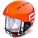 Briko KODIAKINO Ski Helm Junior, Kinder Einheitsgröße Orange Neon