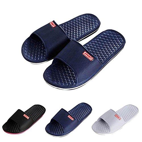 Chaussures Homme Sandale,OverDose ÉTé Sandales De Plage AntidéRapant Tongs Indoor & Outdoor Slippers Flip-Flops Bleu