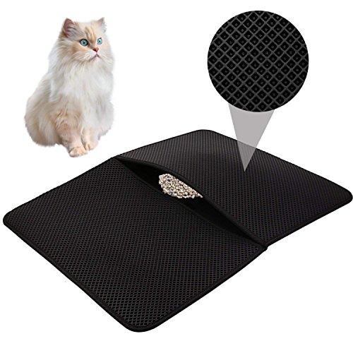 HOVNEE Estera arena gatos impermeable alfombra basura