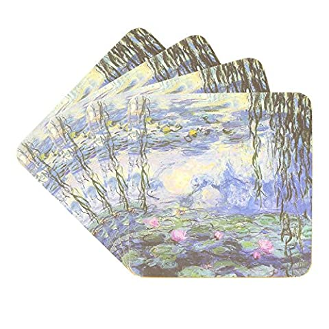 Water Lily Pond 2 By Claude Monet Coasters – Set of 4