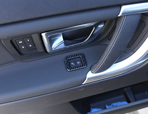 Carbon ABS Chrom Innen Dekor Kinder Lock Zubehör Rahmen Cover Trim Aufkleber für Discovery Sport 2015–2017