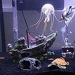 Broadroot Fish Tank Landscape Sailing Boat Shipwreck Shaped Ornament Aquarium Fish Tank Pirate Decor 16