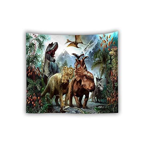LJBOZ Dinosaur Tapestry Home Jurassic Wall Art/Dormitorio