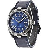 Timberland  0 - Reloj de cuarzo para hombre, con correa de cuero, color azul