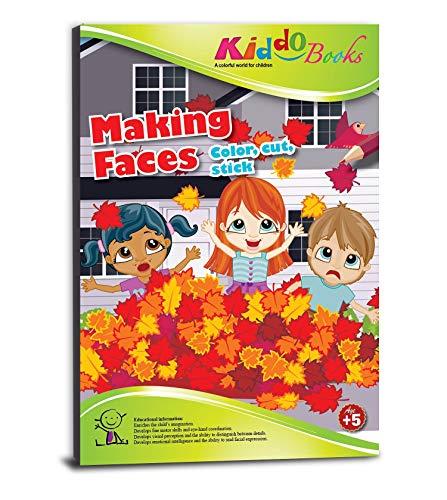 king Faces - Gesichtsausdruck Finden - Color, Cut and Stick - Malen, schneiden und kleben mit farbigen Gesichtern - Malblock für Kinder ab 5 Jahre (4028) ()