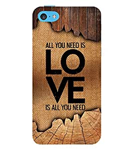 Love Is All You Need 3D Hard Polycarbonate Designer Back Case Cover for Apple iPod Touch 6 (6th Generation)