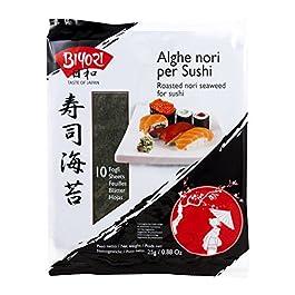 Biyori Alghe Nori per Sushi – 1 confezione da 10 fogli [25 gr]