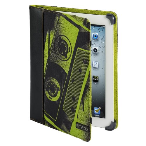 Maroo M-131 Mana II Leder/Nylon Inhuman Folio Case für Apple iPad 2/3/4