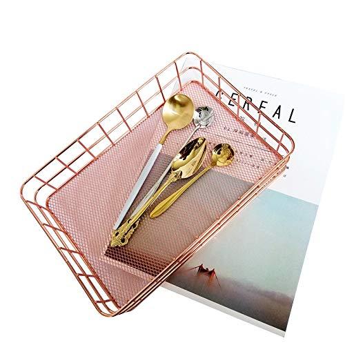 ZONYEO Organizer Basket Bin Tray Metal Mesh for Storage Towel Cosmetic Lipstick Makeup Brush Kitch Utensil Stationery Metal Tray