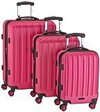 Packenger Premium Koffer 3er-Set Velvet, M/L/XL, Magenta