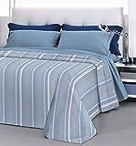 HomeLife Bettüberwurf für Doppelbett/Einzelbett, aus Baumwolle, leichte Frühlings- und Herbstdecke für Halbjahreszeiten, 100, Elegantes Design mit Ton auf Ton,...