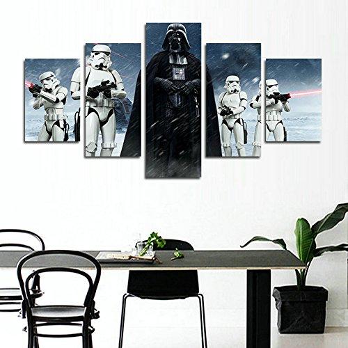 51V837t2bmL - YspgArt66 - Lienzo Impreso, 5 Piezas, diseño de Star Wars Darth Vader, Lienzo, para decoración del hogar, Sala de Estar, Oficina o Regalo (sin Marco)